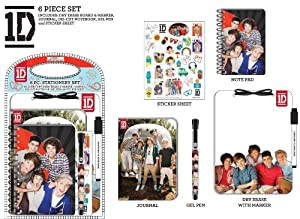 One Direction 6pc Stationery Set by one direction