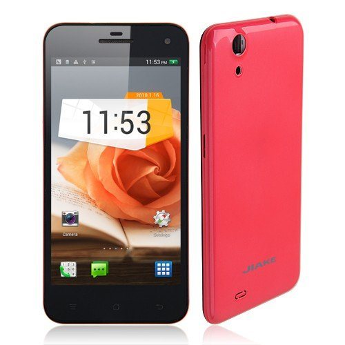 Jiake Jk10 Smartphone Android 4.2 Mtk6582 Quad Core 3G Gps 5.0 Inch Gorilla Glass Ogs Screen Nfc Otg Gesture Sensing- Red
