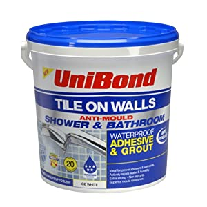 Unibond Tile On Walls Anti Mould Ready Mixed Shower And