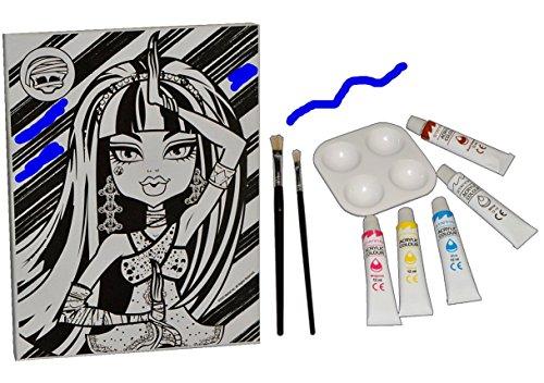 1-Stk-Bastelset-Acryl-Leinwand-Bild-Monster-High-Canvas-zum-Ausmalen-Malset-Bilder-Mdchen-Keilrahmen-Malen-Malbild