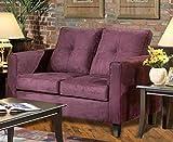 Chelsea Home Furniture Heather Loveseat, Bulldozer Eggplant