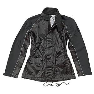 Joe Rocket Women's RS-2 Two-Piece Rain Suit - Large/Black/Black
