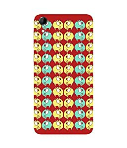 Elephant Trail Red HTC Desire 728 Case