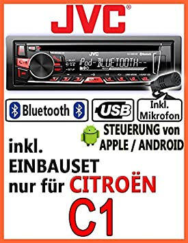 Citroen c1 jVC-kD-r861BT-autoradio cD/mP3/uSB avec kit de montage