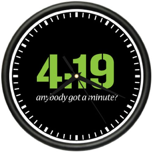 4:19 GOT A MINUTE? Clock 420 pot smoker bong pipe gift