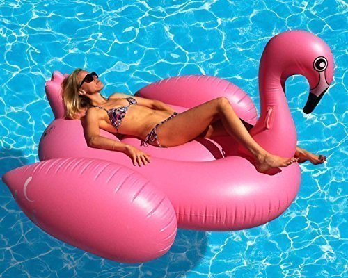 Giant Flamingo Inflatable Pool Toy- 80 Inches