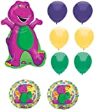 Barney Balloon Bouquet - Set of 9 Balloons
