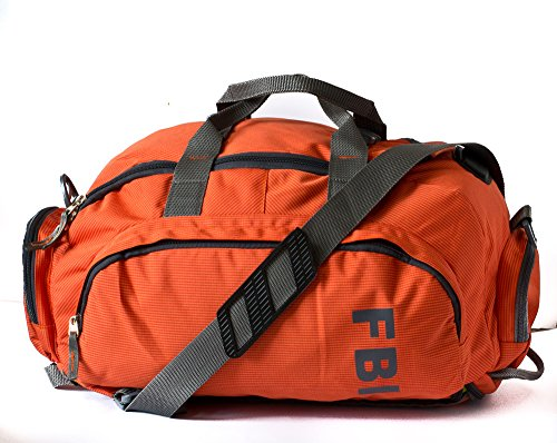 3 in 1 Duffle cum Gym Bag_Orange