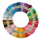 BOXCUTE Lot de 100 Echevettes de Fils Multicolores Pour Broderie Point de Croix Tricotage Bracelets Brésiliens...