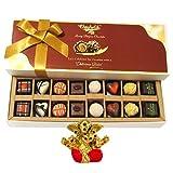 Chocholik Belgium Chocolates - 16pc Mix Assorted Surprise With Small Ganesha Idol - Diwali Gifts
