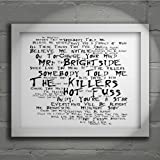 `Noir Paranoiac` Art Print - THE KILLERS - Hot Fuss - Signed & Numbered Limited Edition Typography Wall Art Print - Song Lyrics Mini Poster