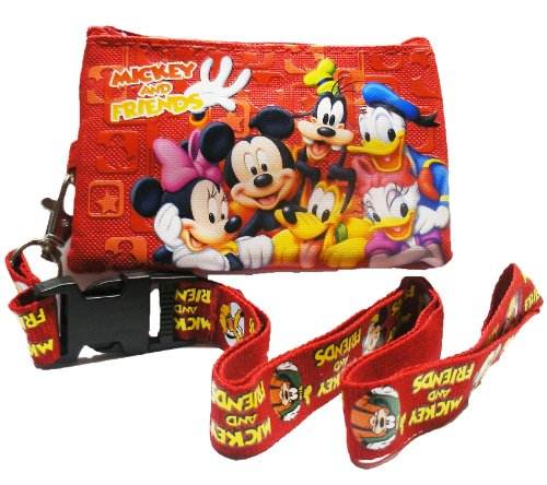 Disney Mickey Mouse and Friends Lanyard with Detachable Coin Purse - 1
