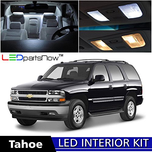 LEDpartsNow Chevy TAHOE 2000-2006 Xenon White Premium LED Interior Lights Package Kit (18 Pieces) + Install Tool (Interior Part For Tahoe compare prices)
