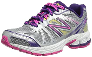 New Balance Girls KJ880SPY Silver/Purple Running Shoes 6 UK Child, 39 EU