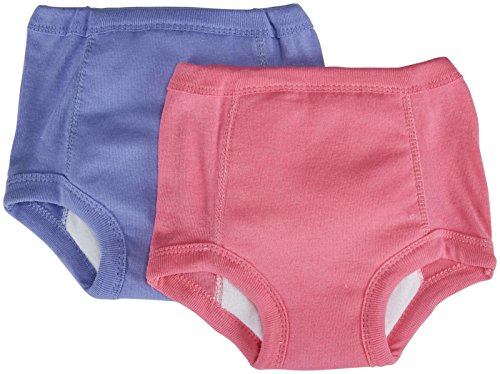 Jockey Little Girls' Girls Toddler 2 Pack Training Pants with Waterproof Liner, Pink/Lavender, 3T