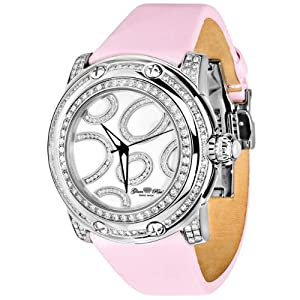 Glam Rock Women's GR80014 Special Edition Collection Diamond Accented Pink Techno Watch