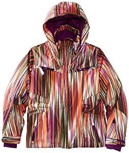 Spyder Girl's Knockout Jacket, Sunrise Speedlines/Gypsy, 16