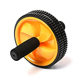 Dual Ab Power Wheel Fitness Abdominal Exercise detachable Roller with Non-Skid Grips
