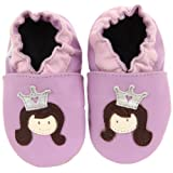 Robeez Soft Sole Princess Lavender Leather Slip-on