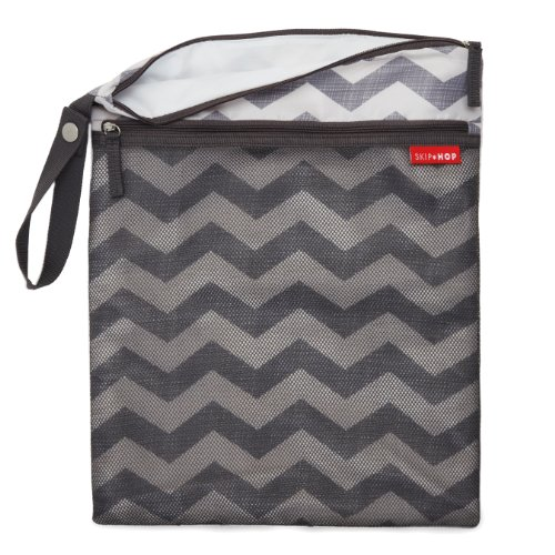 Skip Hop Grab and Go Wet/Dry Diaper Bag, Chevron
