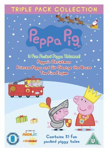 Peppa Pig Triple Pack (Princess Peppa, Fire Engine