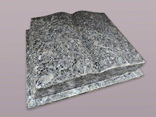 """Buch Grabstein aus Granit """"Labrador B.P."""" 45-35-12 cm inkl. Gravur - Grabstein, Grabkissen, Kissenstein, Grabplatte, Gedenkstein mit Bild, Motiv"""