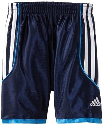 adidas Little Boys' Key Dazzle Short, Navy, 2T