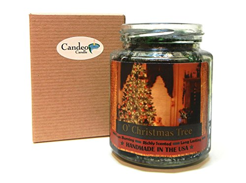 O' Christmas Tree Wood Wick Candle, 8 oz Super Scented Natural Wax Candle