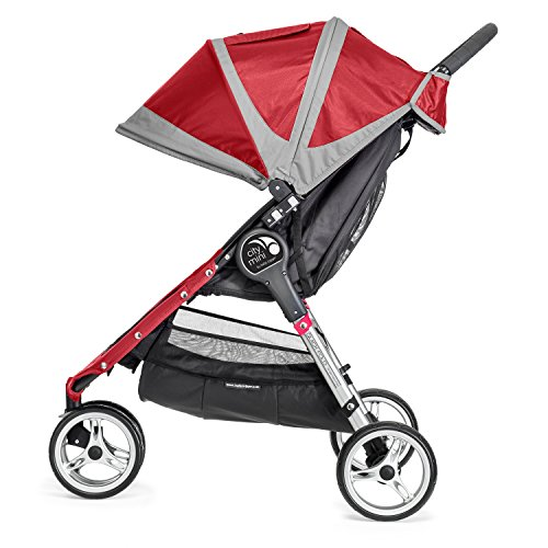 Baby Jogger City Mini Stroller In Crimson, Gray Frame, BJ11436