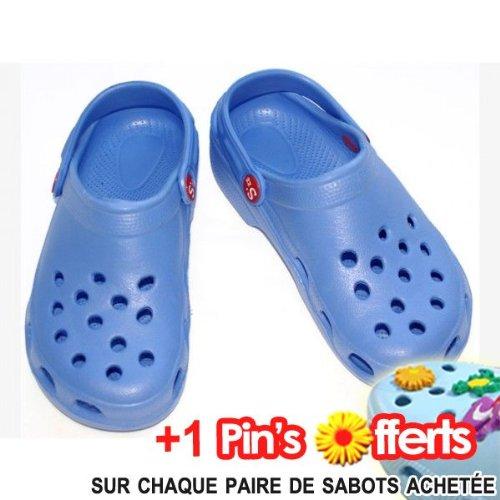 Sabot Plastique Enfant, Schuzz Bleu Vif - Taille 33