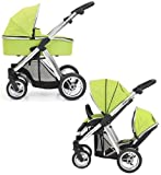 BabyStyle Oyster MAX Inline Double Pushchair (inc 2nd Seat & Carrycot) Lime