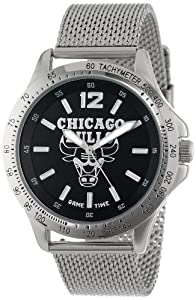 Game Time Mens NBA-CAG-CHI Cage NBA Series Chicago Bulls 3-Hand Analog Watch by Game Time