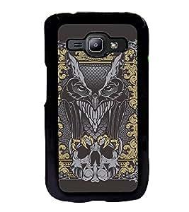 Fuson Premium 2D Back Case Cover Eagle With Black Background Degined For Samsung Galaxy J1::Samsung Galaxy J1 J100F