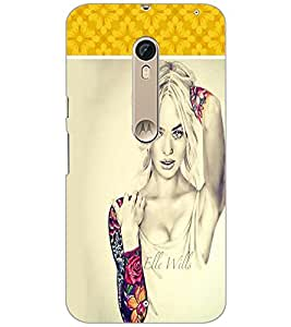 PrintDhaba Model D-1303 Back Case Cover for MOTOROLA MOTO X STYLE (Multi-Coloured)