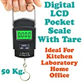 Gadget Hero's 50Kg Digital LCD Pocket Portable Hanging Kitchen Weight Weighing Scale With Tare