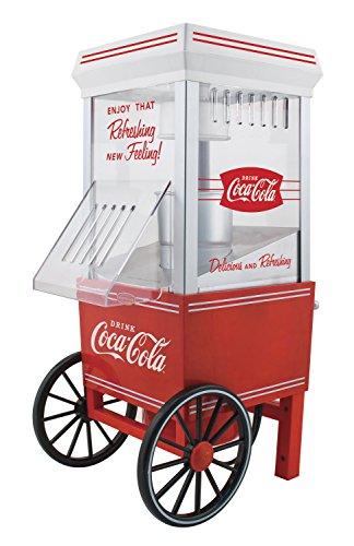 Nostalgia OFP501COKE Coca-Cola 12-Cup Hot Air Popcorn Maker (Vintage Hot Air Popcorn compare prices)