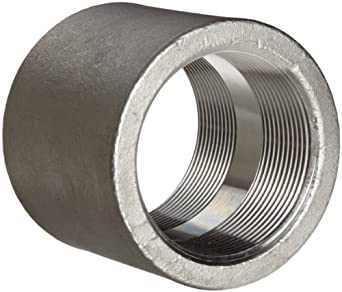 Stainless Steel 304 Cast Pipe Fitting, Full Coupling, MSS SP-114, NPT Female