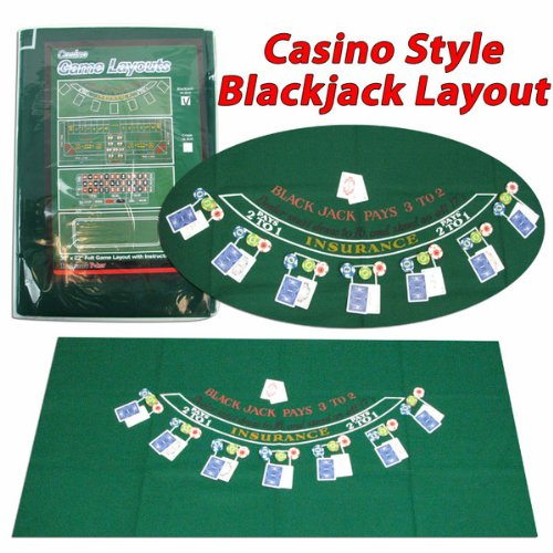 Cheapest Price! Trademark Poker Blackjack Layout, 36 x 72 Inch