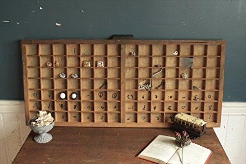 英国(イギリス)アンティーク◇プリンタトレイ/木箱/飾り棚/小物入れ雑貨(a1700082-15)