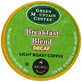 Green Mountain Coffee, Breakfast Blend Decaf K-Cup Packs for Keurig Brewers, 50 Count