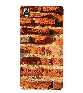 EPICCASE Red brick wall Mobile Back Case Cover For Lenovo A7000 (Designer Case)
