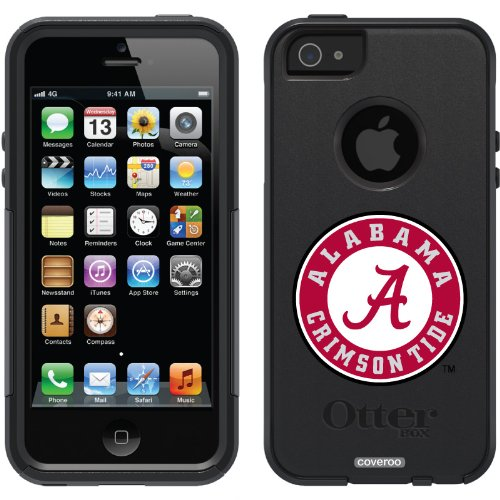 Special Sale University of Alabama Crimson Tide design on a Black OtterBox® Commuter Series® Case for iPhone 5s / 5