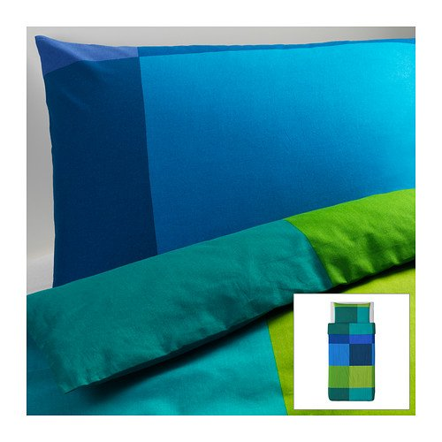 Ikea brunkrissla duvet cover and pillowcases twin blue for Ikea sheets review