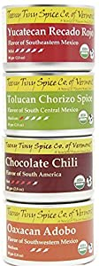 Teeny Tiny Spice Co. of Vermont Organic Mexican Spice Blends Variety Pack, Four 2.8 Oz Tins