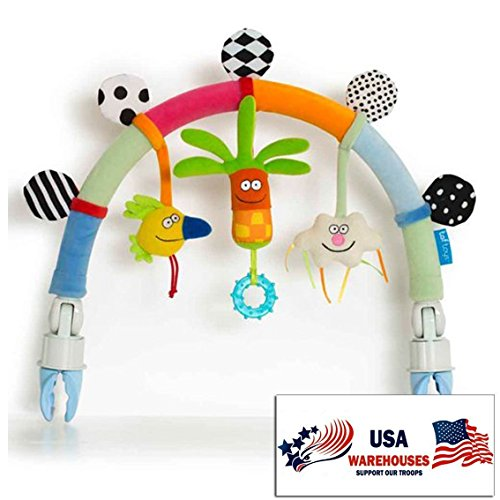 Taf Toys Rainbow Arch Baby Stroller And Pram Activity Bar For Entertainment Development