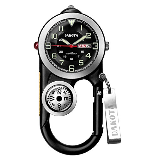 Dakota Watch Company Angler II Clip Watch, Black (Watch Clip compare prices)