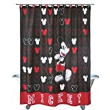 Classic Mickey Heads Disney Bathroom Shower Curtain