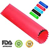Chef Hessler Garlic Peeler Silicone Tube Roller ★ Bonus: 50 Garlic Based Recipes E-book ★ (Red)