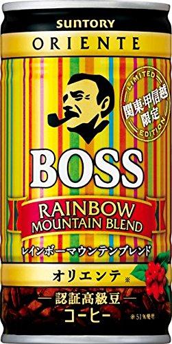 缶コーヒー ボス 関東・甲信越限定 レインボーマウンテン 185g缶×30本