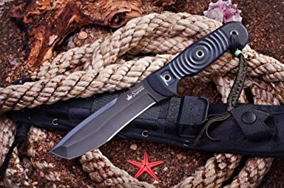 Kizlyar KK0222 Vendetta D2 Russian Made Titanium Tactical Knife, Black from CAS HANWEI :: Combat Knife :: Tactical Knife :: Hunting Knife :: Fixed Blade Knife :: Folding Blade Knife